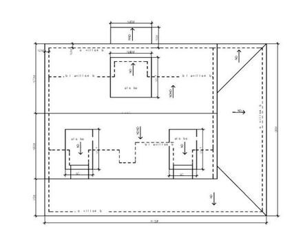 Flat Roof Plans Flat Roof Plan Drawing