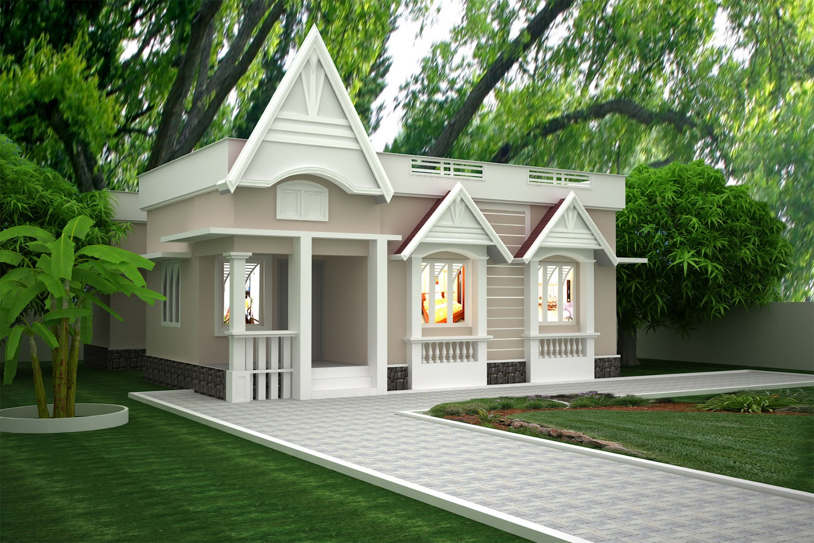 Single Story Exterior House Designs Simple One Story Houses