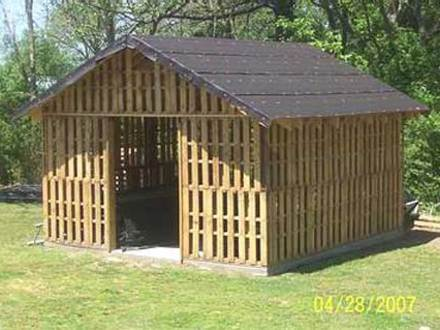 Shed Made From Pallets Deck Made From Pallets