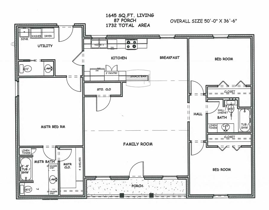 Square House Floor Plans 1550 Square Feet House Plans