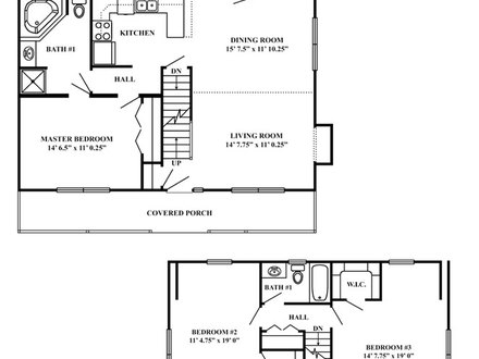 Small cabin house floor plans small cabins tiny houses for Vacation cabin floor plans