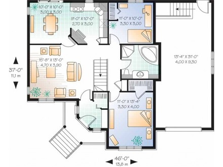 3 Bedroom 2 Story House 2 Bedroom Single Story House Plans