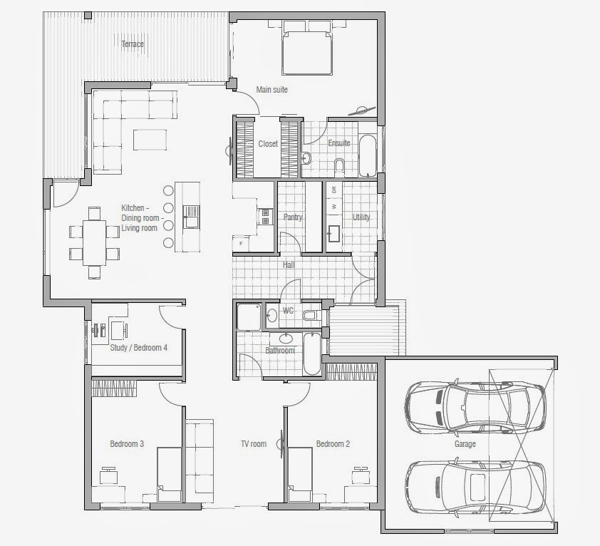 Affordable 3 Bedroom House Plans to Build 3 Small House Bedroom cheap housing plans