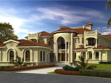 Mediterranean tuscan homes spanish mediterranean homes for Beautiful mediterranean homes
