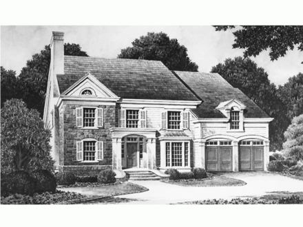 New england colonial houses southern colonial house floor for Historic southern home plans
