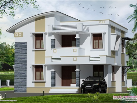 Flat Roof House Styles Simple Flat Roof House Design