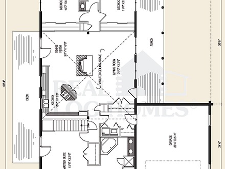 Gambrel log home floor plans gambrel houses inside and out for Log home plans texas
