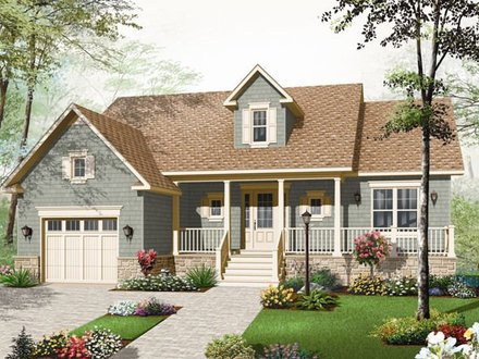 Modern Bungalow Small Country Bungalow House Plans