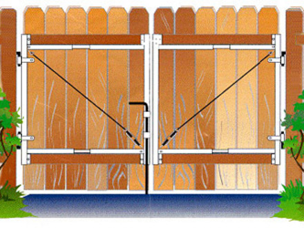 Wood Fence Double Gate Wooden Fence Double Gate Plans