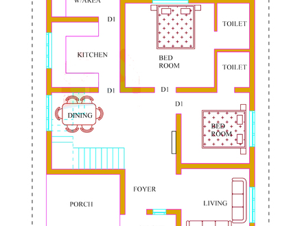 Kerala House Plans 2 Bedroom House Plans Kerala
