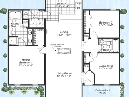 2 story modular home floor plans clayton two story for Manufactured home plans with garage