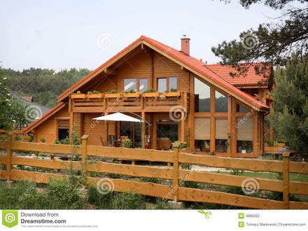 Rustic Country Backgrounds Stock Photos: Rustic country house