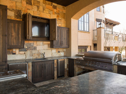 Rustic Home Theater Rooms Rustic Lodge Style Home Kitchens