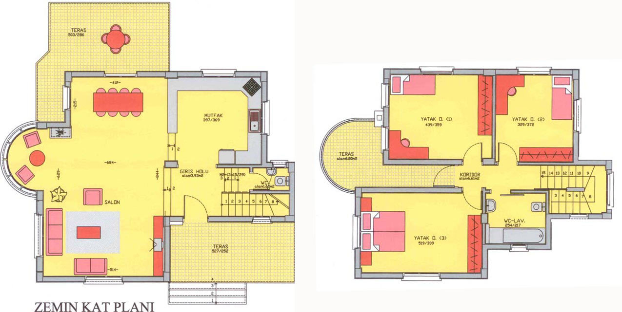 Villa house designs plans