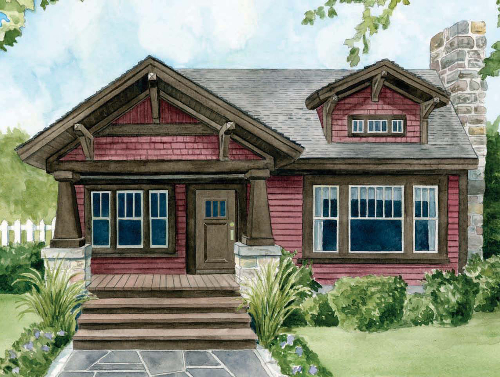 Ranch style homes craftsman craftsman style home craftman for Craftsman style ranch house