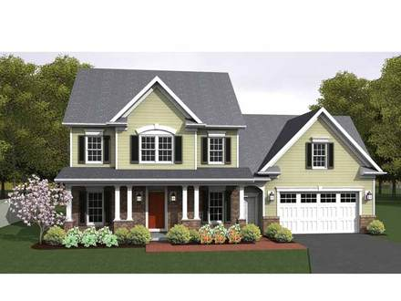 Colonial House Plan Small Colonial House Plans