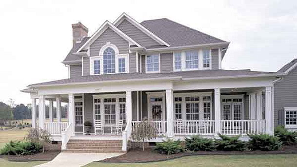 Country Homes Open Floor Plan Country House Floor Plans with Porches