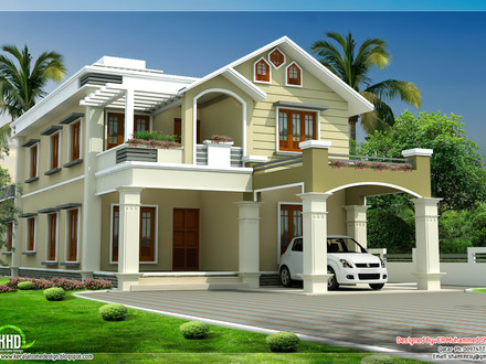 Modern Two Storey House Designs Two-Storey Mansion