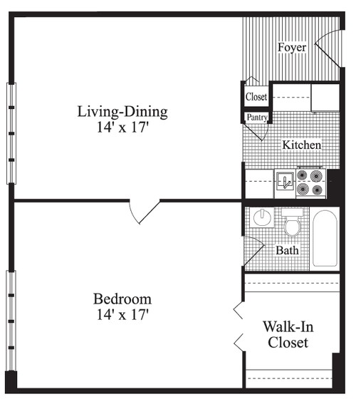 24x24 Home Addition: One Bedroom Home Plans 1 Bedroom House Plans 24X24, 1