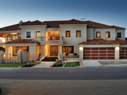One story luxury homes florida luxury homes landscape for Custom ranch home builders maryland