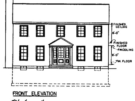 Simple Colonial House Plans Small Colonial House Plans
