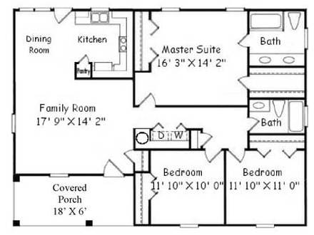 50-Foot Lot House Plans 30 Foot House Plans