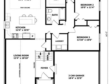 Ranch Bungalow Floor Plans House Plans Ranch Style Home