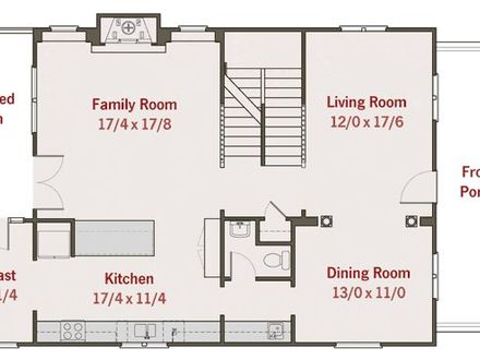 Simple house plans 2 bedroom house plans home floor plans for Ranch home plans with cost to build