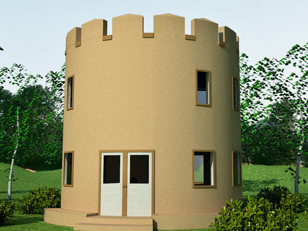 Small castle home plans and designs inspired castle house for Small castle house