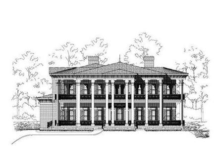 Luxury home plans walkout basement luxury craftsman home for Colonial luxury house plans