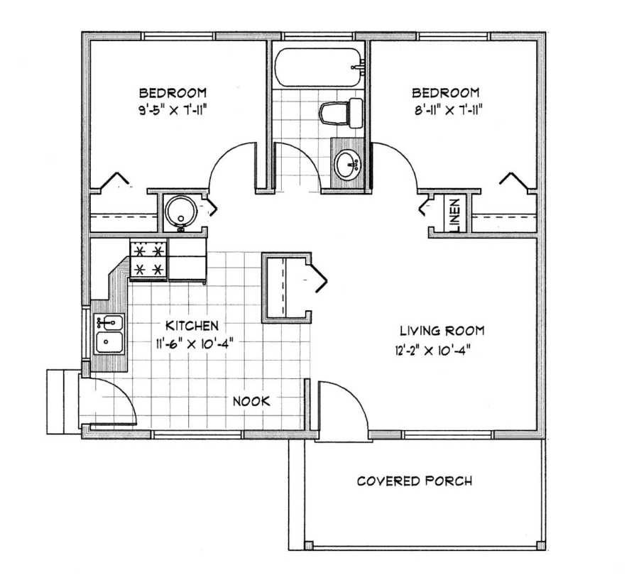 Small cabin floor plans cabin cottage plans under 1000 sq for Square foot of 20x20