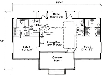 1200 square foot house with laundry room 1200 square foot for Ranch house plans under 1500 square feet