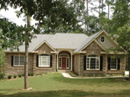 One Story Exterior House Designs One Story Luxury Home