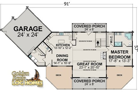 Wisconsin Log Homes Golden Eagle Log Homes Floor Plans