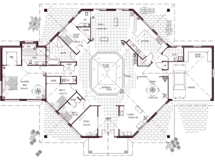4 Bedroom House Floor Plans 5 Bedroom House With Pool