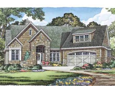French cottage house plans old world design small house for Old world style house plans