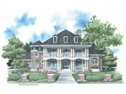 Large southern plantation house plans south carolina for Southern exposure house plans