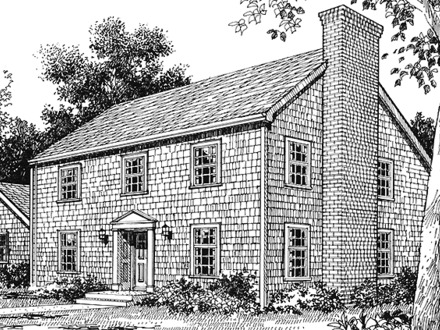 Saltbox house plans small saltbox home plans salt box for Saltbox garage plans