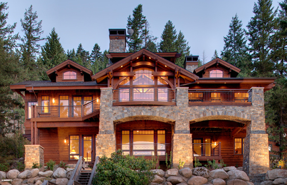Lakefront Homes Mountain House Lakefront Mountain Home with Boat Garage