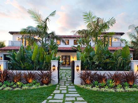 Mediterranean- style Front Yards Spanish Style Front Yard Landscaping Ideas