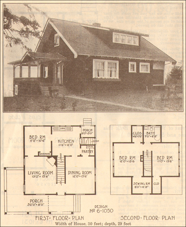 Old style bungalow home plans old bungalow house plans for Vintage bungalow house plans
