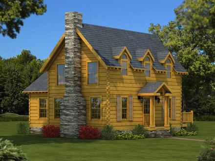 Colonial williamsburg house plans wythe house colonial for Colonial log homes