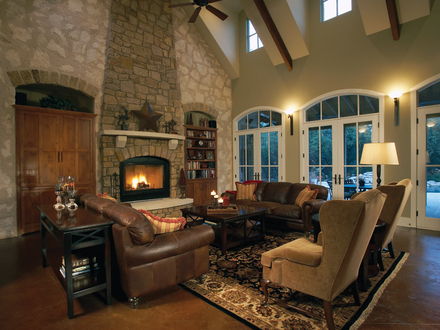 Great Rooms with Vaulted Ceilings Great Rooms with Beam Ceilings