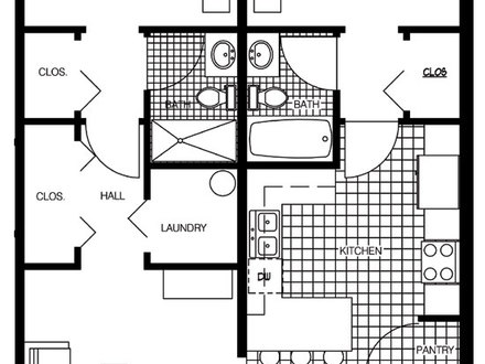 Luxury 2 Bedroom Floor Plans 2 Bedroom Floor Plan
