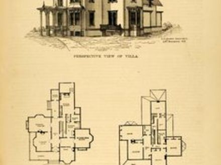 Victorian Houses at Christmas Vintage Victorian House Floor Plans