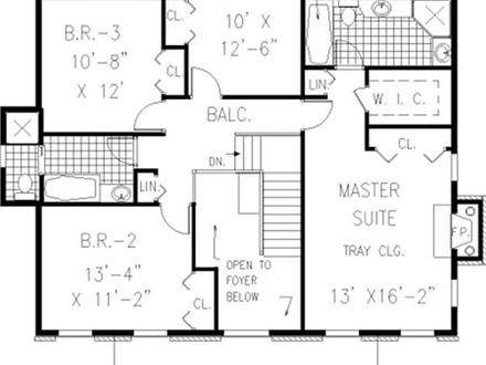 Colonial Floor Plans Center Hall Colonial Floor Plans