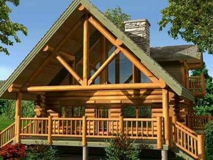 Small Log Cabin Home Designs Small Log Home with Loft