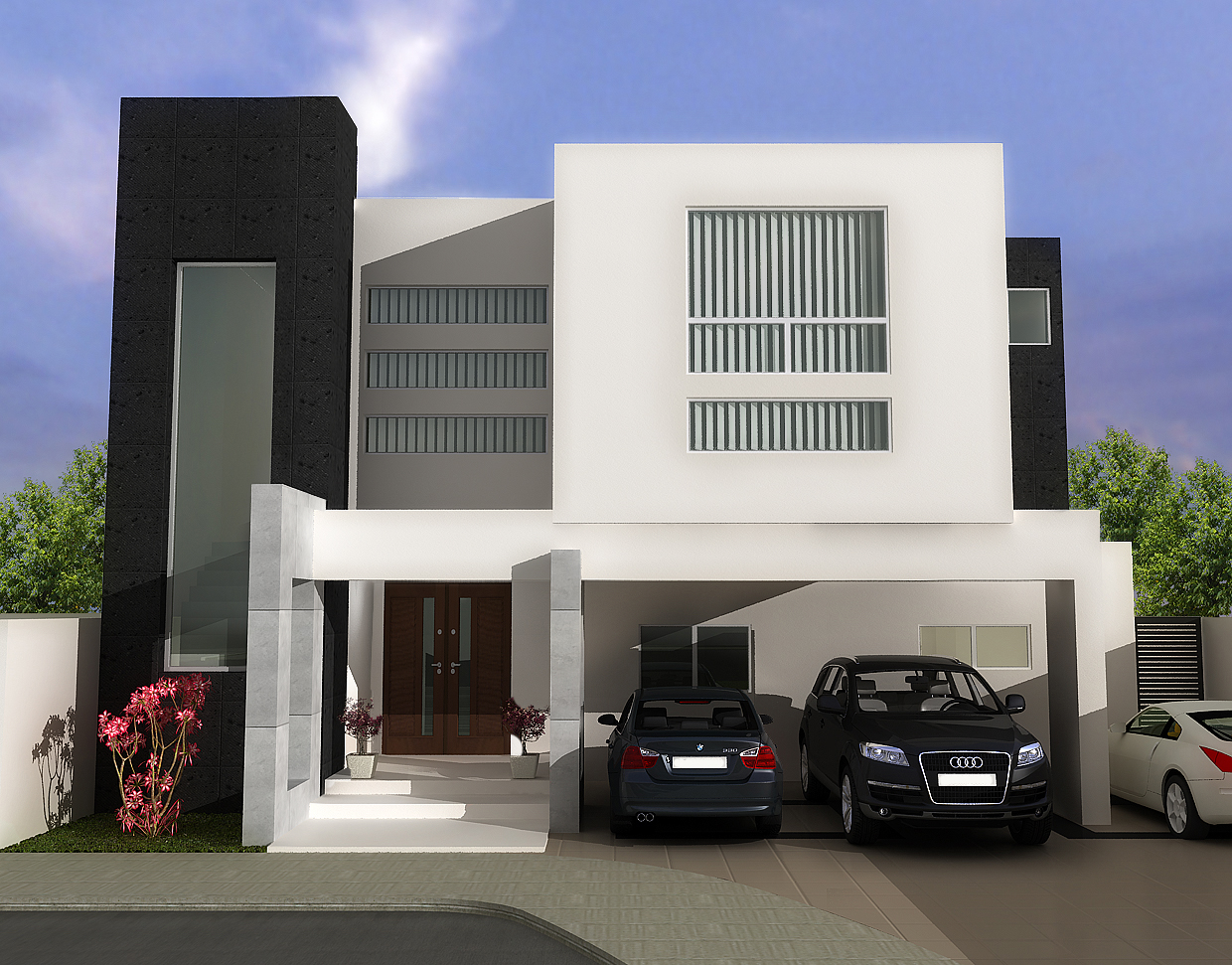 Contemporary House Plans Flat Roof Modern Contemporary House