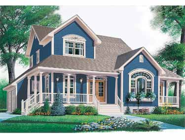 Open Floor House Plans Classic Farmhouse House Plans