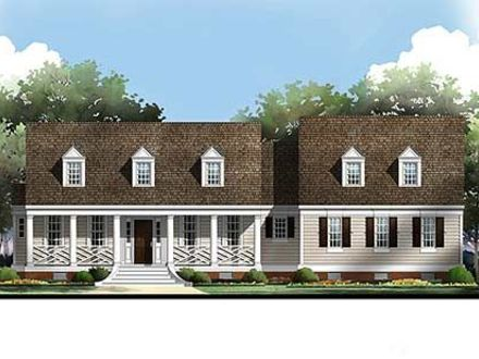 Raised house plans drive under garage raised ranch for Cape cod house plans with basement